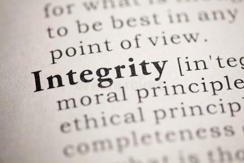integrità fotografia stock