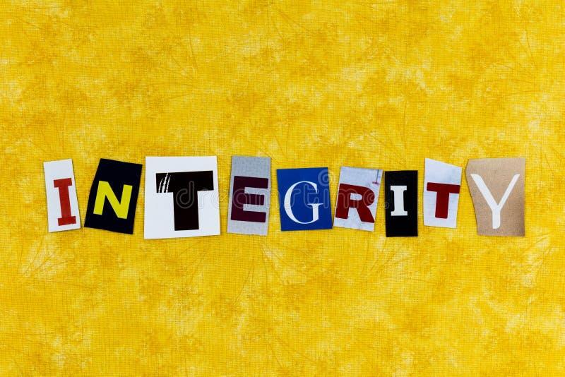 Integrität Ethik Vertrauen Ehrlichkeit Wahrheit Gerechtigkeit Güte lizenzfreie stockfotografie