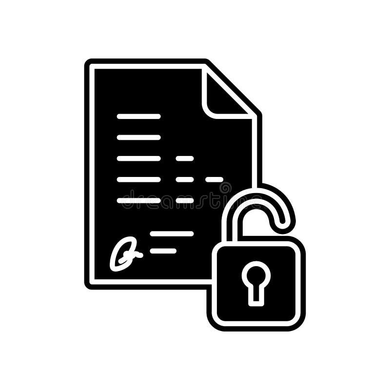 Integrität, Zugänglichkeitsikone Element des Projektes der allgemeinen Daten für bewegliches Konzept und Netz Appsikone Glyph, fl vektor abbildung