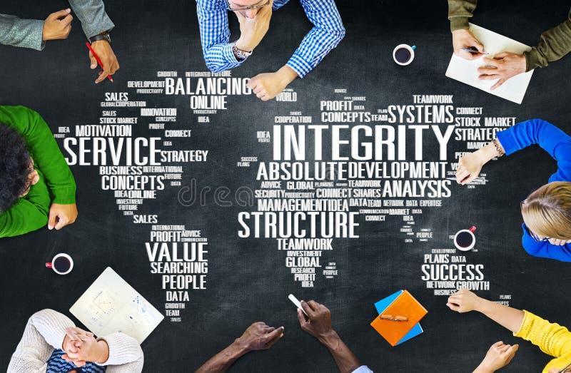 Integritäts-Ehrlichkeits-Aufrichtigkeits-Vertrauens-Zuverlässigkeits-Konzept stockbilder