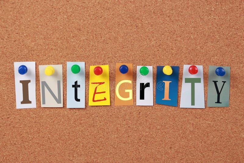 Integritäts-einziges Wort lizenzfreie stockfotos
