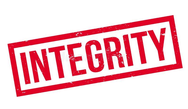 Integritätsstempel stock abbildung