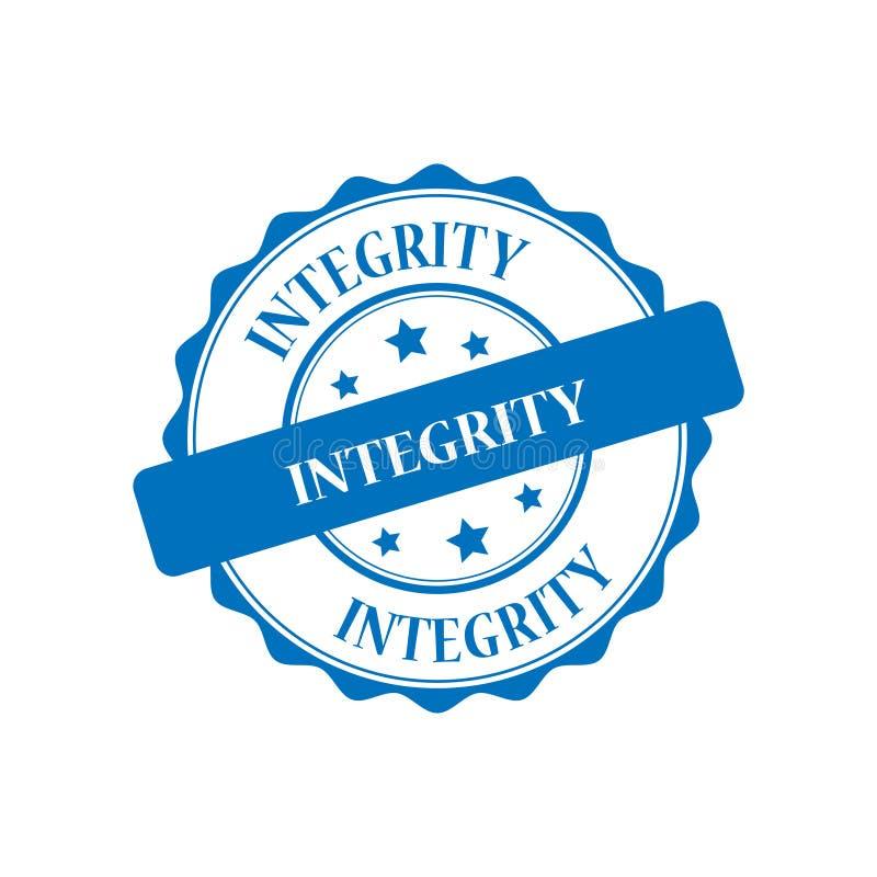 Integritätsstempelillustration stock abbildung