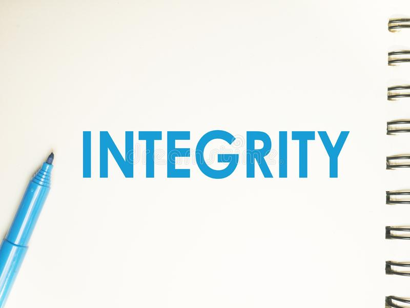 Integrit T Motivwort Zitat Konzept Stockbild Bild Von