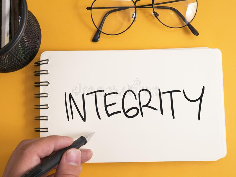 Integriteit, het Motievenconcept van Woordencitaten stock fotografie