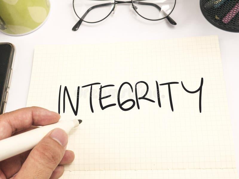 Integriteit, het Motievenconcept van Woordencitaten royalty-vrije stock afbeelding