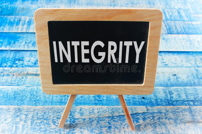 Integriteit, het Motievenconcept van Woordencitaten stock afbeelding