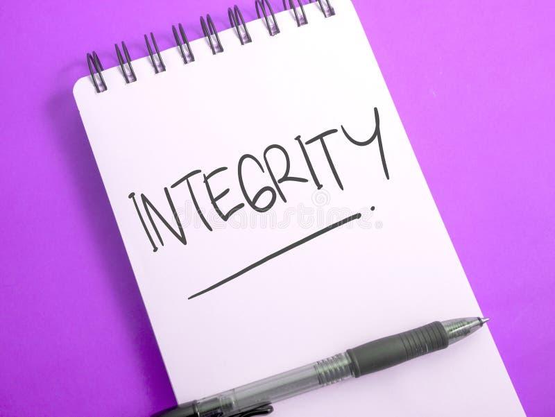 Integriteit, het Motievenconcept van Woordencitaten royalty-vrije stock foto's
