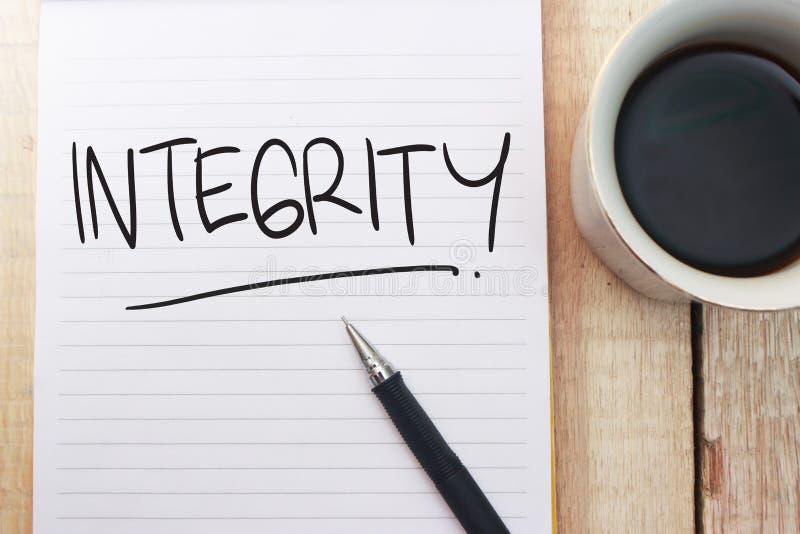 Integriteit, het Motievenconcept van Woordencitaten stock foto
