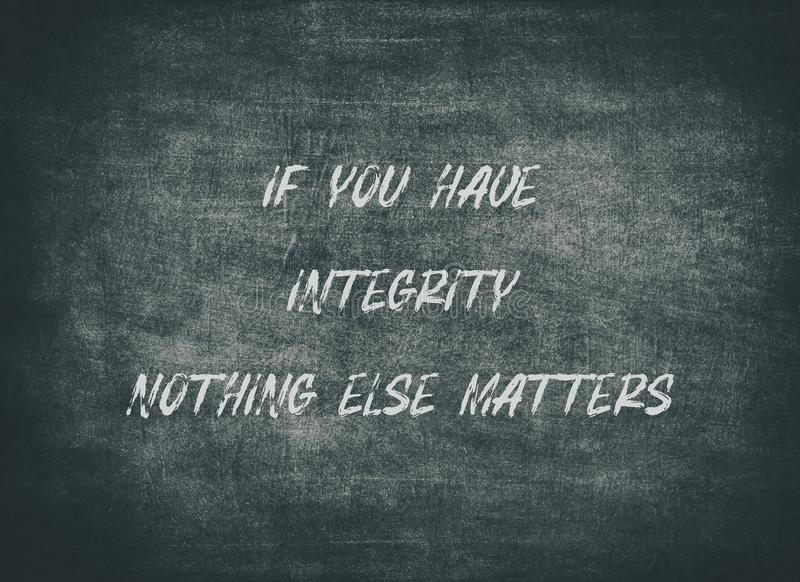 Integrity honesty ethics right lead typography type. Integrity honesty ethics right lead letterpress typography honest trust character pursuit have faith success stock image
