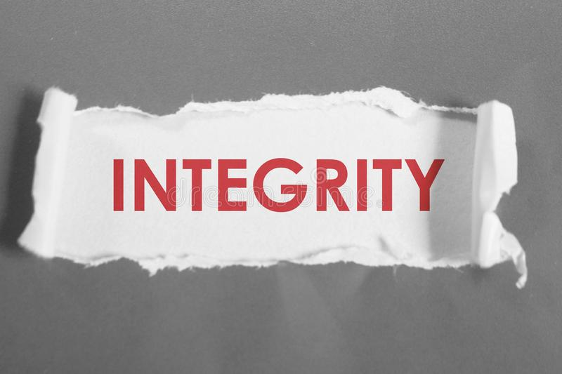 Integrity, Motivational Words Quotes Concept. Integrity, business motivational inspirational quotes, words typography lettering concept text vintage ethics stock images