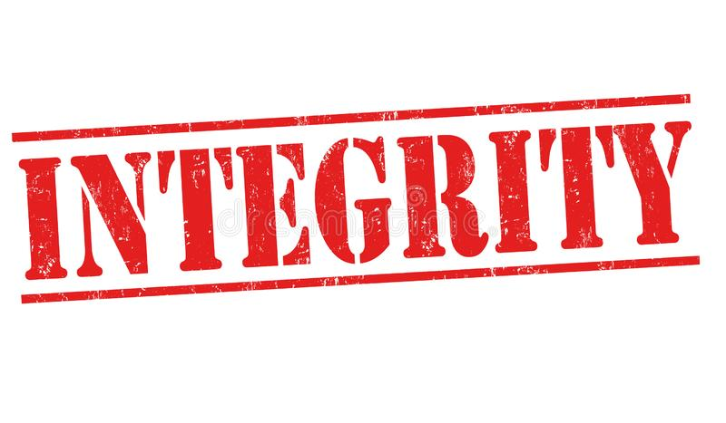 Integrity sign or stamp royalty free illustration