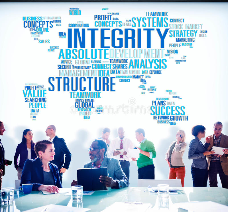 Integrity Structure Service Analysis Value Service Concept stock photography
