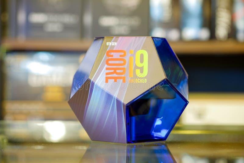 Intel Core i9-9900K ENTRIEGELTE lizenzfreies stockbild