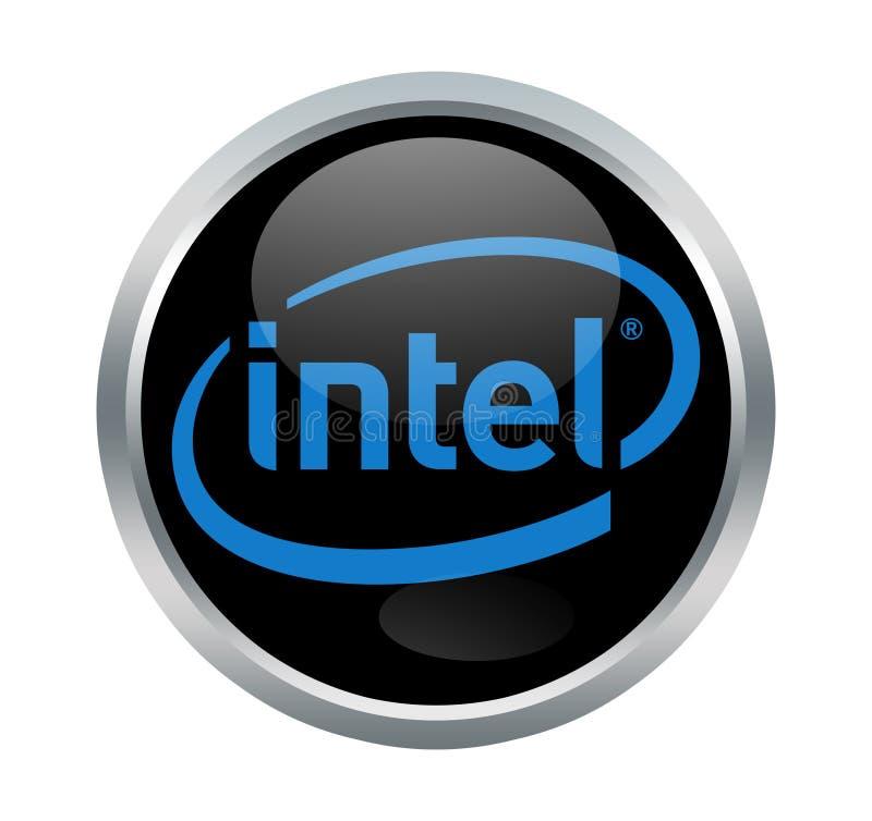 Intel company sign. Intel Corporation is an American multinational corporation and technology company headquartered in Santa Clara, California stock illustration