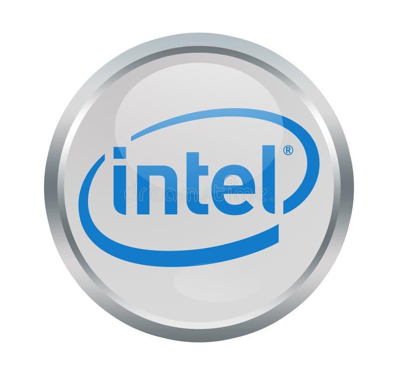Intel company sign. Intel Corporation is an American multinational corporation and technology company headquartered in Santa Clara, California royalty free illustration
