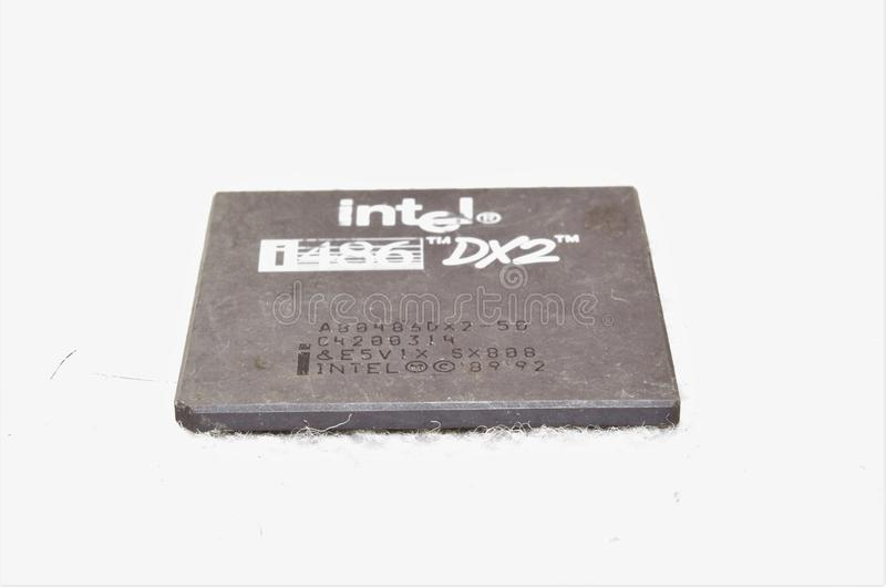 Intel i486 DX2 CPU lizenzfreies stockfoto