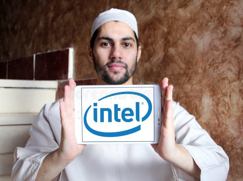 Intel-Logo stockbilder