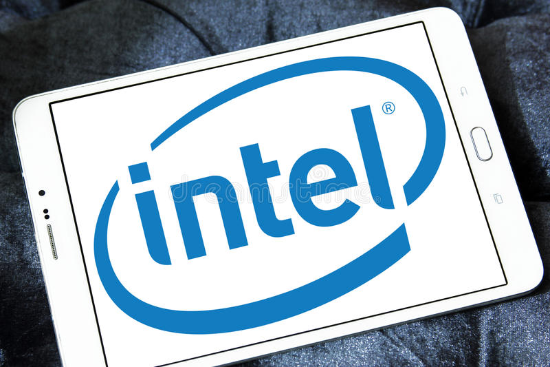 Intel-Logo stockfotografie