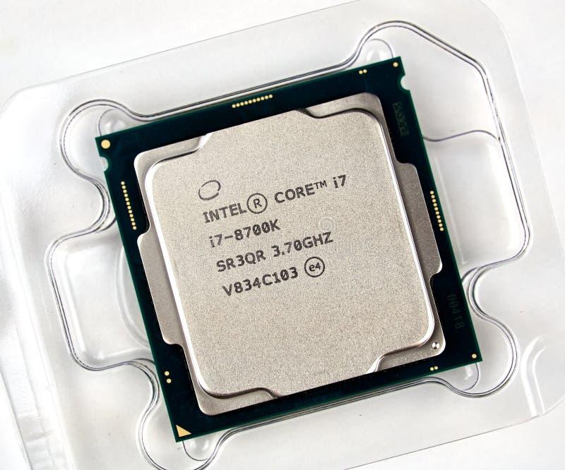 Intel-Logo und CPU stockbilder