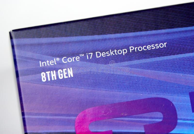 Intel-Logo und CPU stockbild