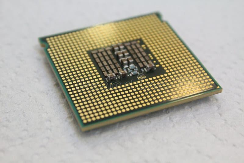 Intel processor cpu close-up for computer stock photos