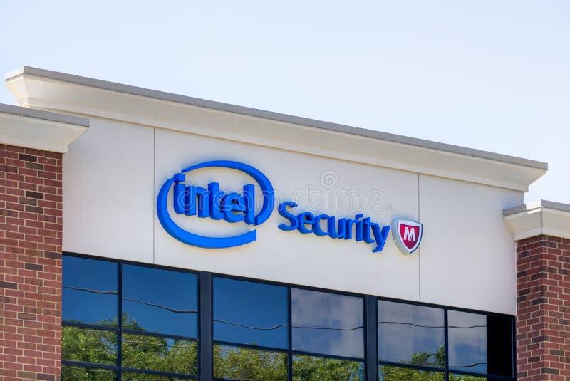 Intel-Sicherheitsbürogebäude lizenzfreie stockfotografie