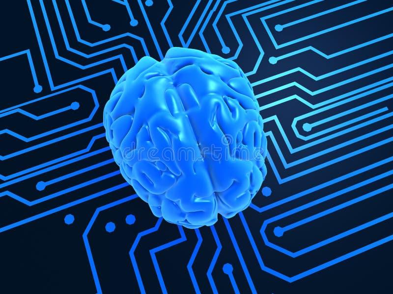 Inteligência artificial ilustração stock