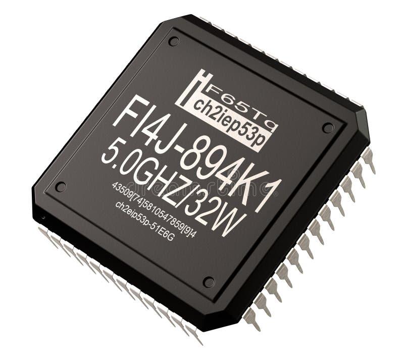 Inteligência artificial de micro microplaqueta de aprender o futuro componente digital da máquina foto de stock royalty free