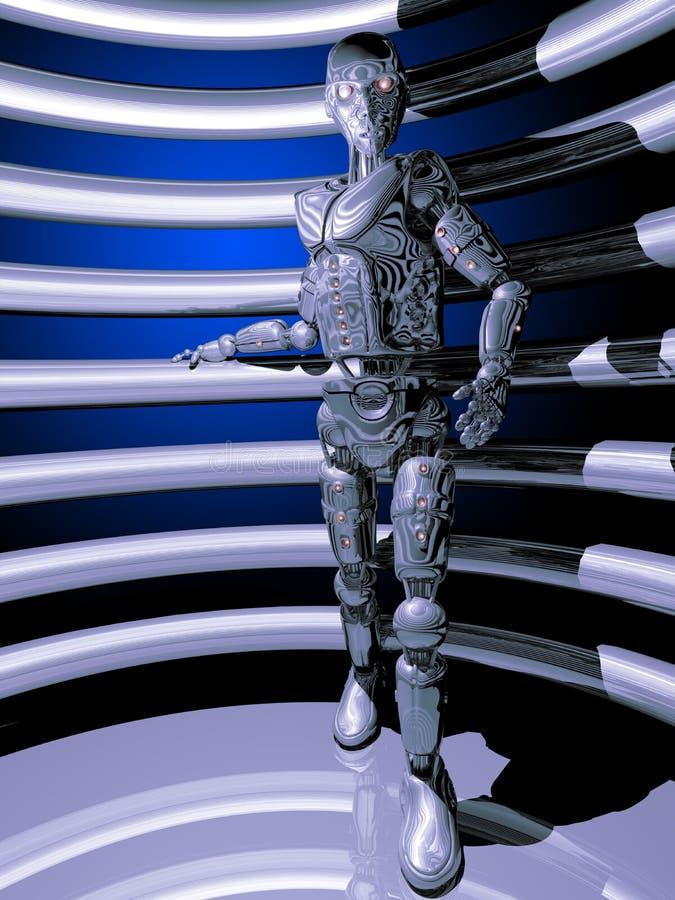 Inteligência artificial que olha nos ilustração stock
