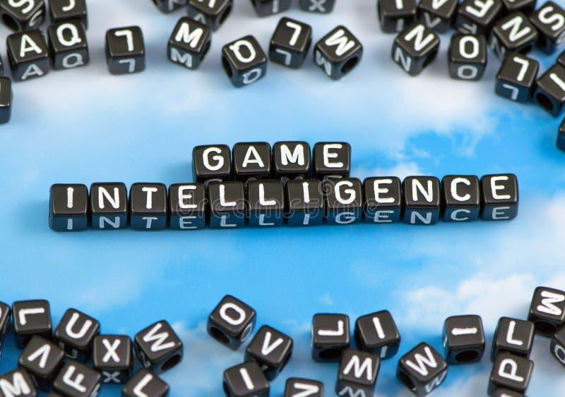 A inteligência do jogo de palavras fotos de stock royalty free