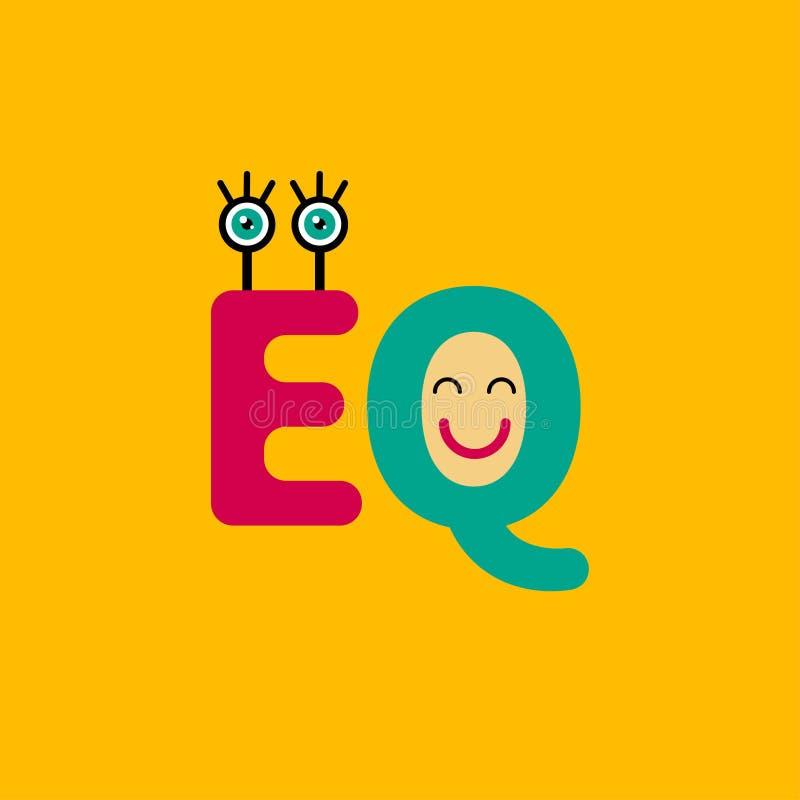 Inteligência emocional do símbolo ilustração stock