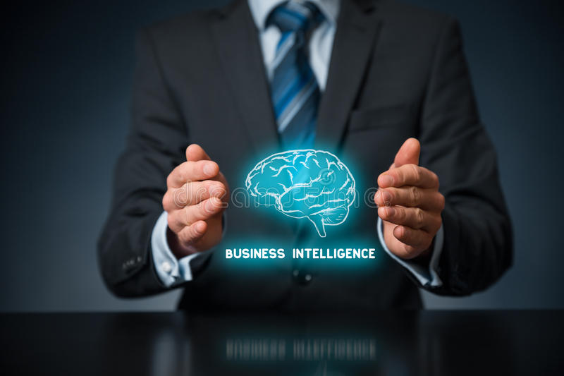 Inteligência empresarial imagem de stock royalty free