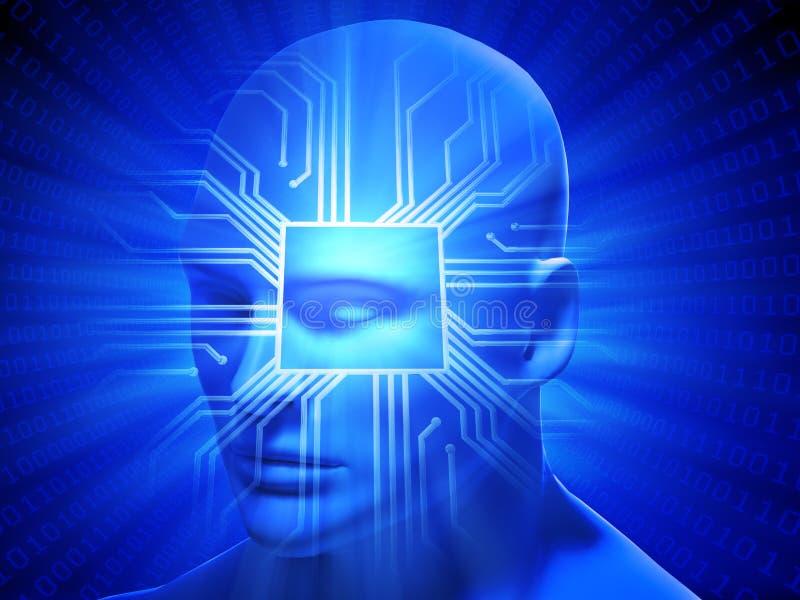 Inteligência geral artificial ilustração stock