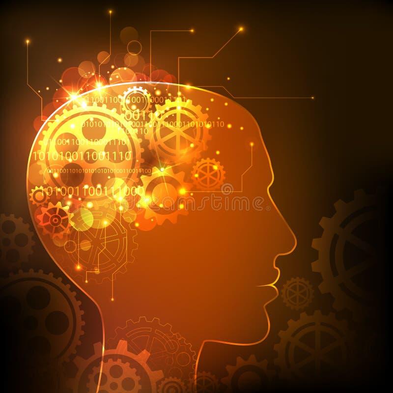 Inteligência humana ilustração royalty free
