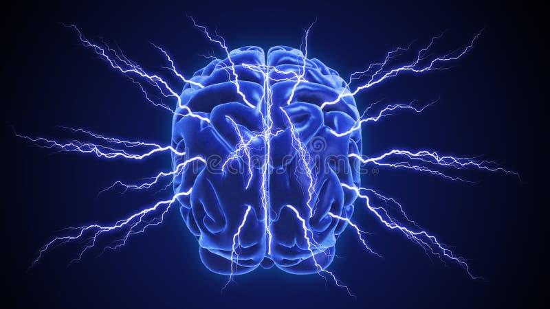 Inteligência ou conceito humano da psicologia ilustração do vetor
