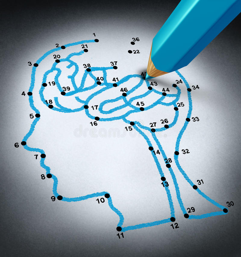 Inteligenci terapia ilustracja wektor