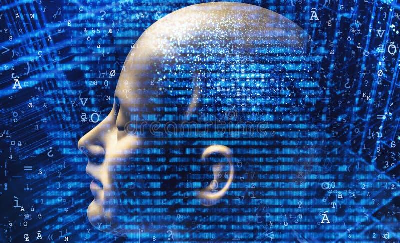 Download Inteligencia artificial stock de ilustración. Ilustración de fondo - 100525197