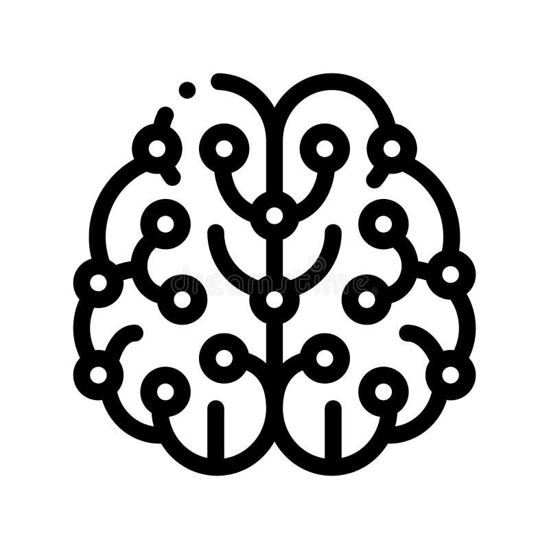 Inteligencia artificial Brain Vector Sign Icon libre illustration