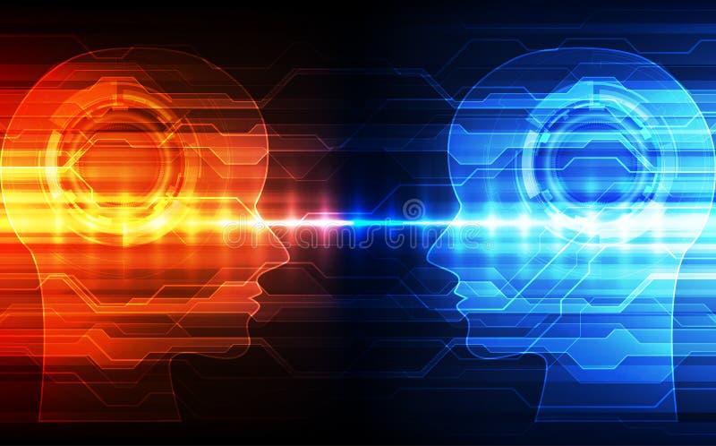 Inteligencia artificial Tecnología digital del AI en futuro Concepto virtual Fondo de la ilustración del vector libre illustration
