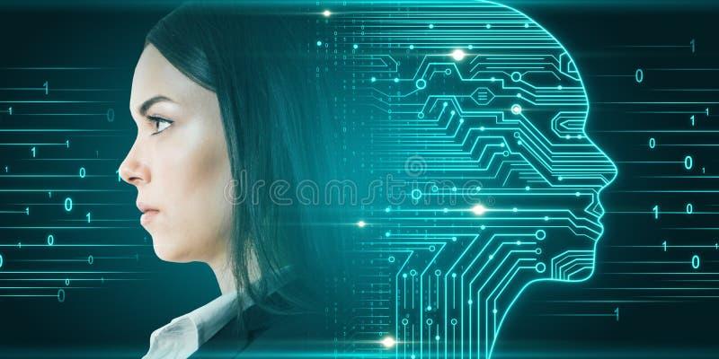 Inteligencia artificial y concepto de hardware fotografía de archivo