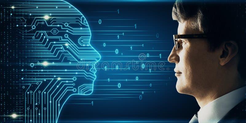 Inteligencia artificial y concepto de los nervios fotografía de archivo