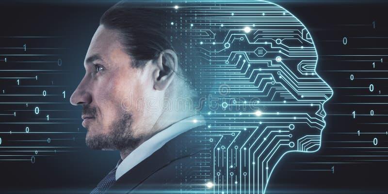 Inteligencia artificial y concepto de software fotos de archivo