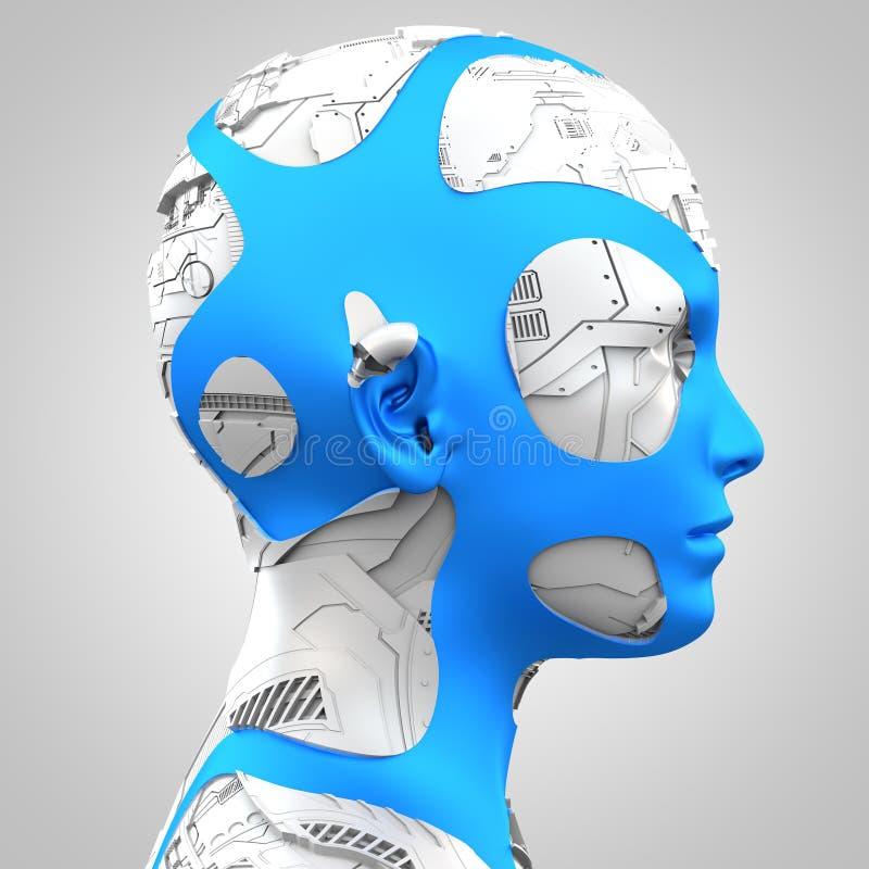 Inteligencia artificial y robótica stock de ilustración