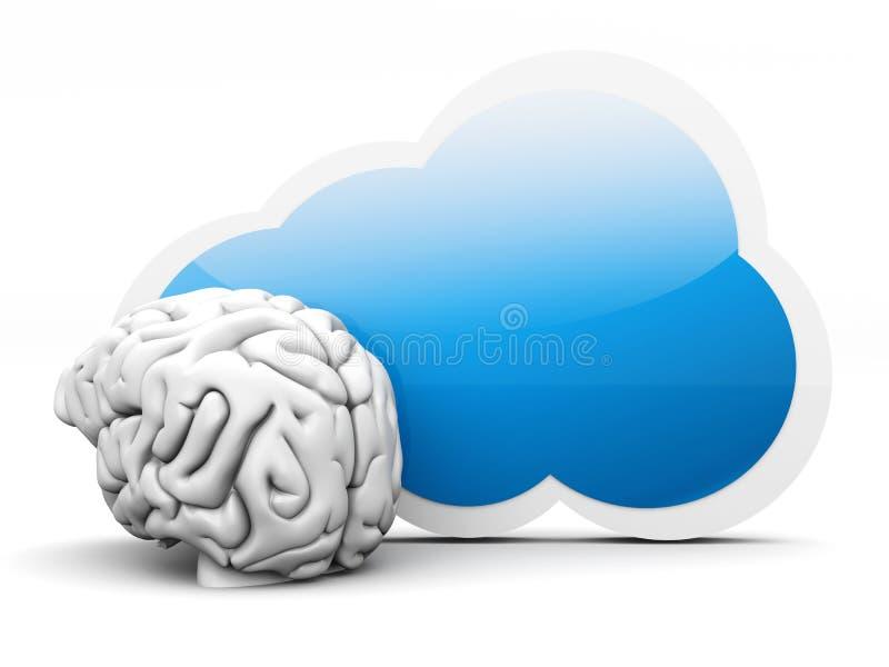 Inteligencia de la nube stock de ilustración
