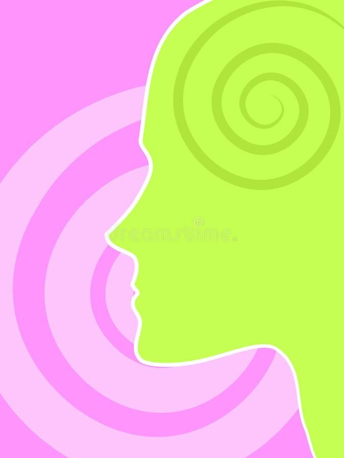 Inteligencia del intelecto y potencia 2 de la mente stock de ilustración