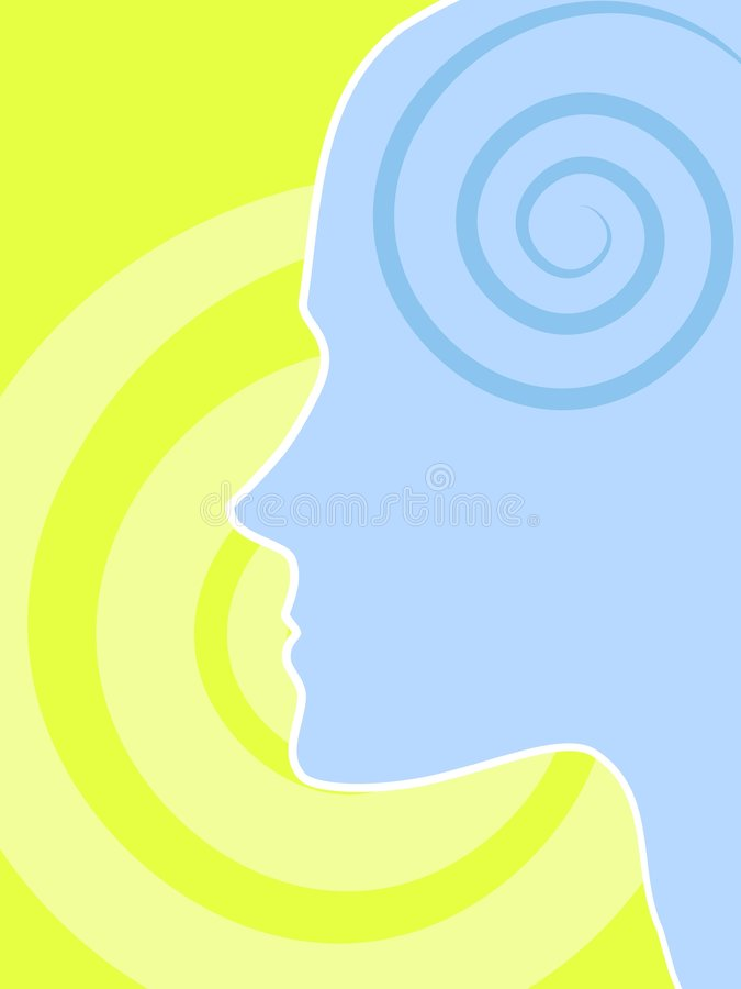 Inteligencia del intelecto y potencia de la mente ilustración del vector