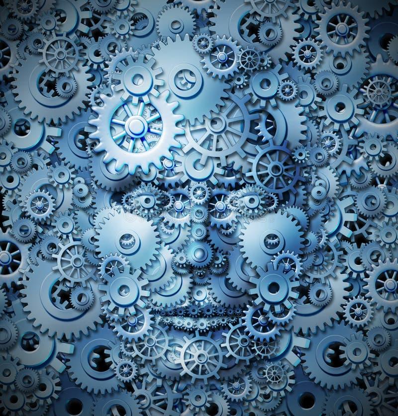 Inteligencia y creatividad humanas ilustración del vector