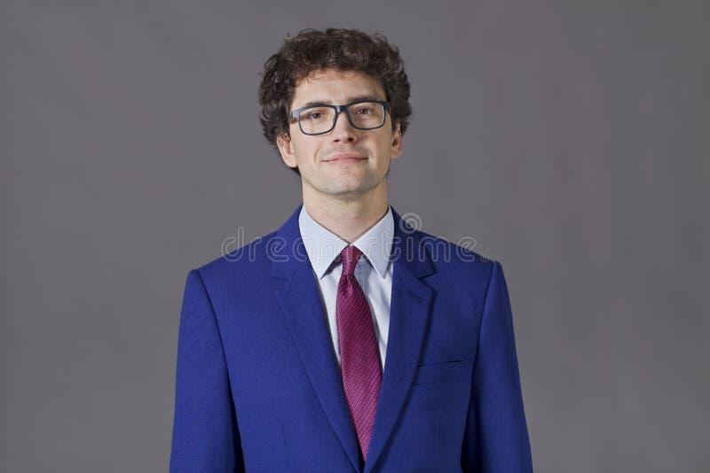 Nice boy wearing a blue jacket royalty free stock photos