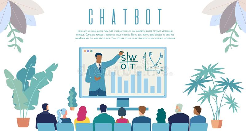 Intellectual Chatbot Service Vector Web Banner stock illustration